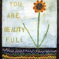 Art/Wall Decor - You Are Beauty Full Vintage Framed Art Print - Rosenberry Rooms - art, print, flower, blue, sky, eclectic, girls, bedroom, vintage