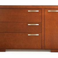 Storage Furniture - Element 3 Drawer Dresser with Door - Rosenberry Rooms - kids, nursery, dresser, modern, wood, brown, contemporary, sleek, door