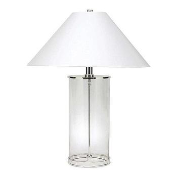 Lighting - Modern Table Lamp - Ralph Lauren Home - modern, glass, lamp, table, silver, polished, brass, clear