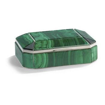 Decor/Accessories - Bianca Malachite Box - Ralph Lauren Home - emerald, green, box, malachite, traditional, onyx,