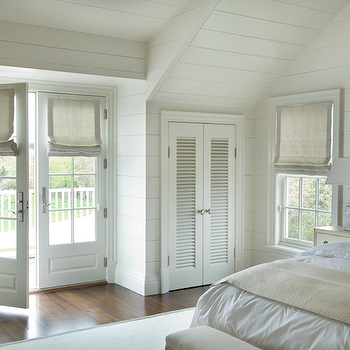 Bedroom French Doors, Cottage, bedroom, Barbara Waltman Design