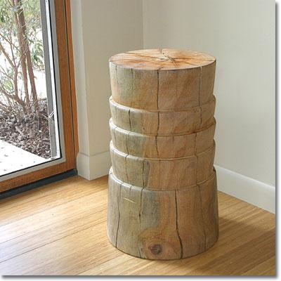 Tables - Zuri Side Table -  Pfeifer Studio - eco-friendly, hardwood, stool, solid, sculpted, margosa, wood, natural