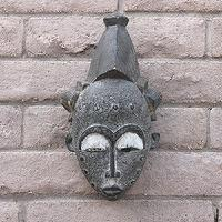 Art/Wall Decor - Vintage Baule Mask - Pfeifer Studio - mask, African, tribal, vintage, face, gray, brown, safari, sculpture