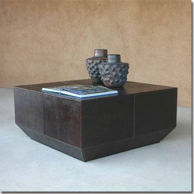 Leather Cocktail Table Pfeifer Studio
