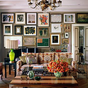 Patterned Sofas, Eclectic, living room, Kristen Buckingham Interior Design