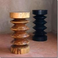 Seating - Abaidoo Stool Table - Pfeifer Studio - natural, ebony, walnut, sculpted, solid, wood, accent, table, stool, African