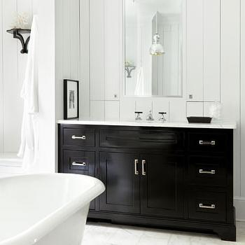 Black Bathroom Cabinets, Cottage, bathroom, Hammersmith Atlanta