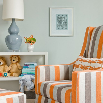 Grey and Orange Nursery, Contemporary, nursery, Lovejoy Designs