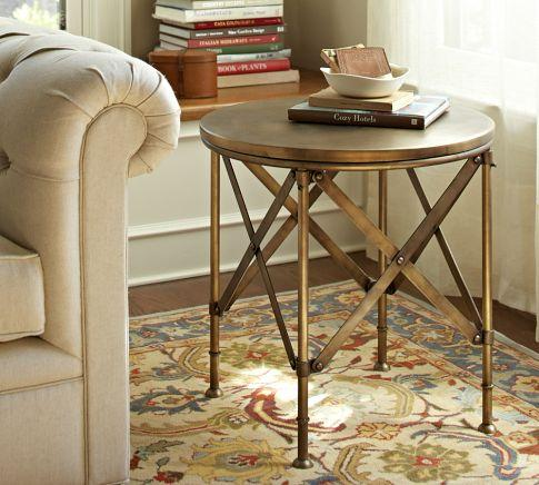 Campaign Accent Table Pottery Barn