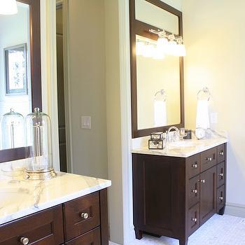Espresso Cabinets, Transitional, bathroom, 6th Street Design School