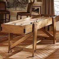Decor/Accessories - Shuffleboard Table | Pottery Barn - pine, maple, games, shuffleboard, media, USA, wood,
