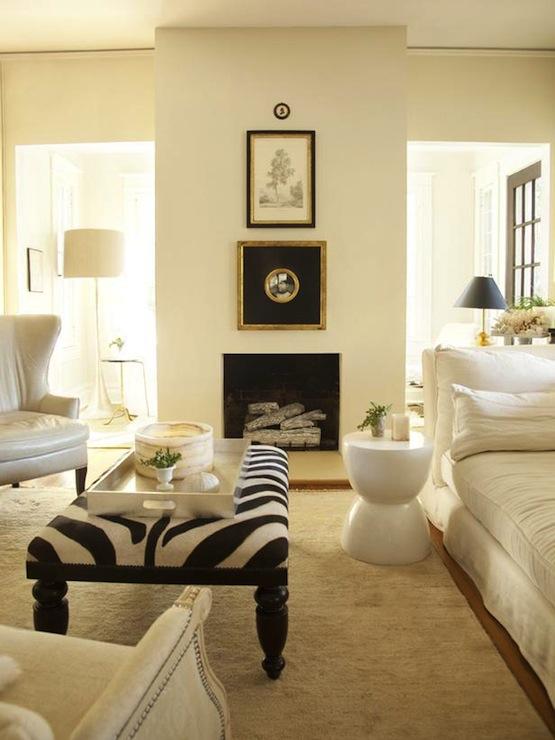 Zebra Decor Living Room: Lisa Sherry Interieurs