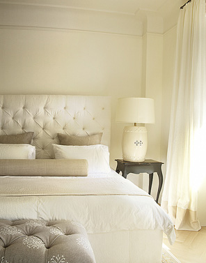 Cream Velvet Tufted Headboard - Contemporary - bedroom - Lisa ...