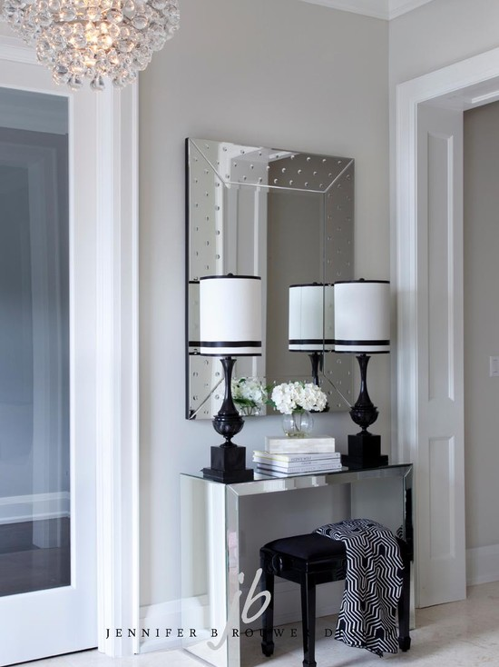 Mirrored Foyer Table Contemporary Entrance Foyer
