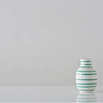 Small Turquoise and White Omaggio Vase, Gretel