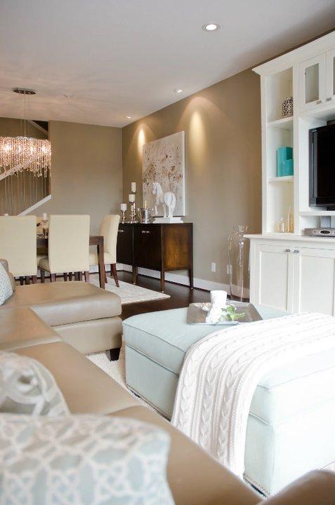 Open Floor Plan Contemporary Living Room Twenty One Two