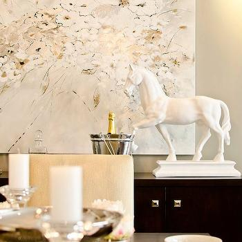 Horse Statue, Contemporary, dining room, Twenty One Two