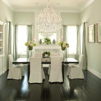 Slipcovered Dining Chairs, French, dining room, Alexandra Rae Interiors