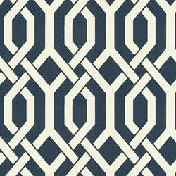 Fabrics - Slick Outdoor Navy - Fabric - Calico Corners - navy, blue, trellis, cream, white, lattice, fabric, outdoor