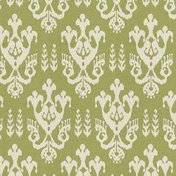Fabrics - Ghiza Outdoor Leaf - Fabric - Calico Corners - green, outdoor, fabric, cream, avocado, patterned