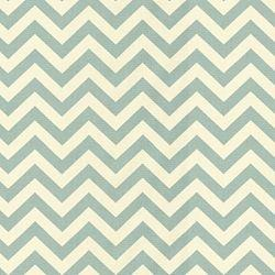 Fabrics - Zigzag C Village - Fabric - Calico Corners - blue, cream, zigzag, chevron, fabric,