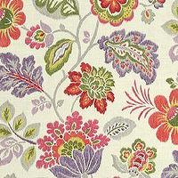 Fabrics - Kazoo Ruby - Bamboo - Fabric - Calico Corners - fabric, floral, pink, green, purple, cream, traditional, large, scale