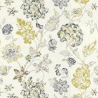 Fabrics - Alexander Indigo - Fabric - Calico Corners - cream, green, blue, indigo, floral, traditonal, gray, fabric