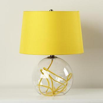 Lighting - Yellow Crystal Ball Table Lamp - Land of Nod - kids, nursery, boys, girls, lamp, yellow, crystal, ball, glass