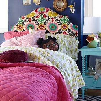 Beds/Headboards - Kids Arched Patterned Headboards - Land of Nod - kids, bedroom, upholstered, headboard, arched, pattern,