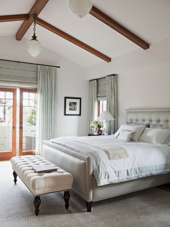 Vaulted ceiling bedroom transitional bedroom annette english - Vaulted ceiling bedroom ...