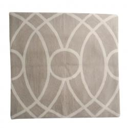 Pillows - Roma II in Shale - Christine Maxwell.com - taupe, beige, greige, pillow, lattice, trellis, pillow, cover, cream