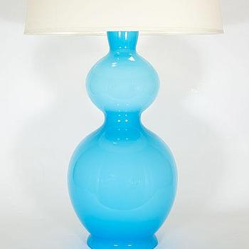 Lighting - Idea Murano Double Ball Glass Lamp - Sue Fisher King - Murano, glass, gourd, ball, lamp, Italy, blue