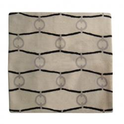 Pillows - Paris II in Shale - Christine Maxwell.com - black, chain, trellis, beige, pillow, cover, modern, contemporary