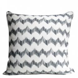 Pillows - Anthracite Ziggy Pillows - Christine Maxwell.com - pillow, chevron, zigzag, gray, white, charcoal, contemporary, modern