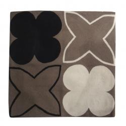 Pillows - Paris I in Shale - Christine Maxwell.com - brown, black, cream, beige, modern, contemporary, pillow,