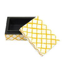Decor/Accessories - Bojay Inc. Small Bone Box - Sue Fisher King - yellow, trellis, bone, box, decor, accessories, jewelry