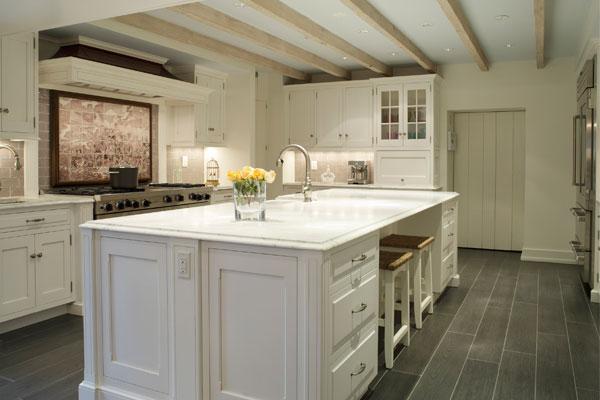 Charcoal Slate Tile Floor Cottage Kitchen Suellen