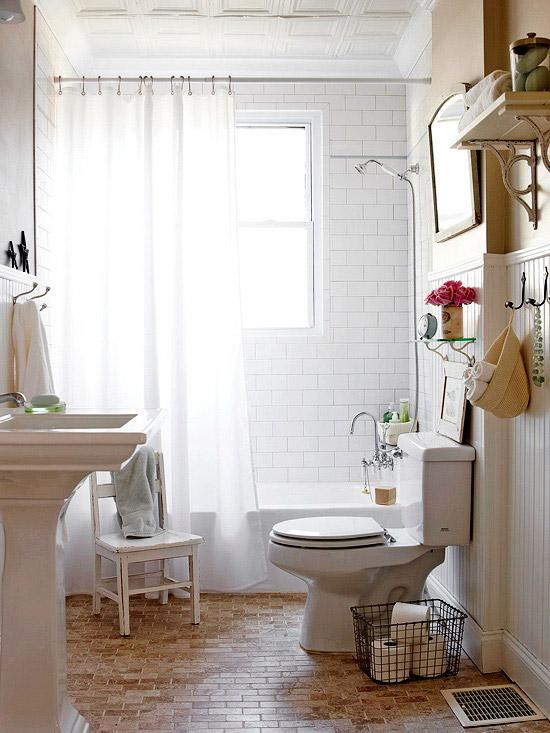 Cottage Style Bathroom Floor Tile : Cottage bathroom bhg