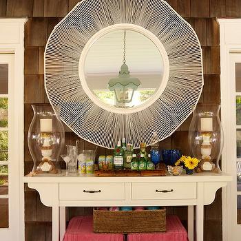 Pottery Barn Mercury Glass Lamp Cottage Living Room