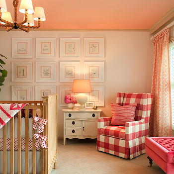White and Pink Nursery, Transitional, nursery, Amy Meier Design