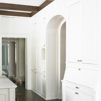 Hidden Desk, Transitional, kitchen, Brian Watford Interiors