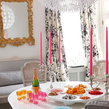 Rococo Mirror Eclectic Dining Room Dayka Robinson