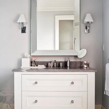 Grey and White Bathroom, Contemporary, bathroom, Jennifer Worts Design