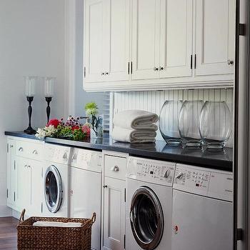 Beadboard Laundry Room, Cottage, laundry room, Jennifer Worts Design