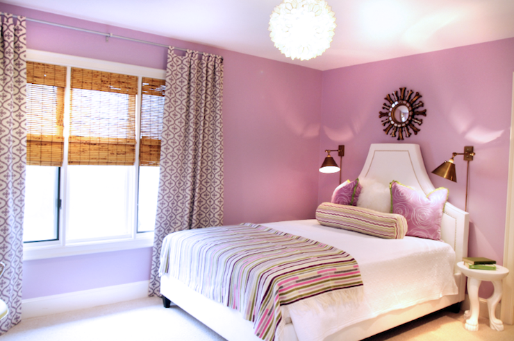 Lavender teen bedroom contemporary girl 39 s room lucy - Lilac color paint bedroom ...