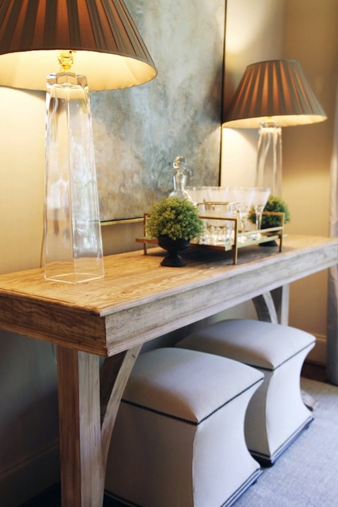 Oak Console Table Transitional Entrance Foyer Lucy
