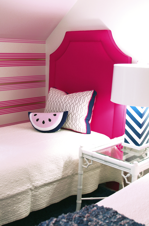 Hot Pink Headboard - Contemporary - girl's room - Lucy and Company