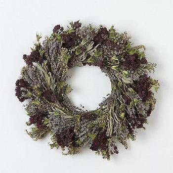 Decor/Accessories - Lavender Herb Wreath - Terrain - wreath, purple, lilac, rustic, country, wall, decor, front, door, fall,