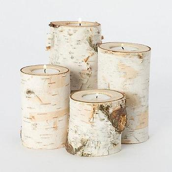 Decor/Accessories - Fallen Birch Branch Votive Set - Terrain - candles, votive, candleholder, rustic, country, wood, birch, branches, natural, organic,