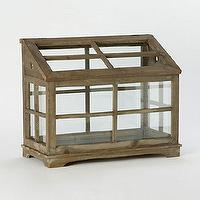 Decor/Accessories - Orchid House Terrarium - Terrain - glass, wood, paneled, terrarium, orchid, planter, rustic,